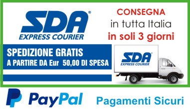 Consegna in tutta italia in soli 3 giorni